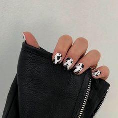 Minimalist Nails, Nail Swag, Winter Nail Art, Winter Nails, Fall Nails, Summer Nails, Cow Nails, Nagellack Trends, Nagel Gel