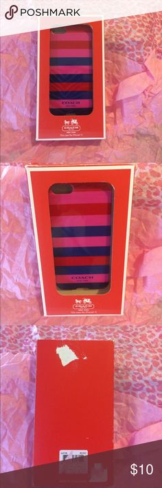 Coach iPhone 5 case Durable case by coach red, pink, and blue multi colored Coach Accessories Phone Cases