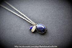 Lapis lazuli - collar ovalado con piedra natural de Arts&Crafts por DaWanda.com