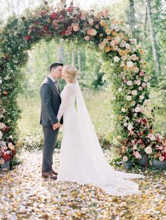 This is one fabulous wedding arch!