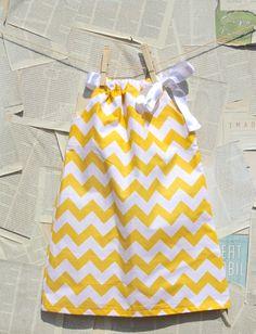 Yellow Chevron Dress by dandylionclothingcom
