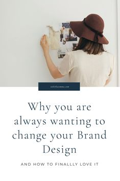 Why You are Always Wanting to Change Your Brand. Stop re-branding. Fall in love with your visual brand design. How to have a brand identity that you love and will stick to. Create A Brand Logo, Creating A Brand, Branding Your Business, Creative Business, Business Tips, Online Business, Business Cards, Identity Design, Brand Identity