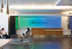 Microsoft, reception desk