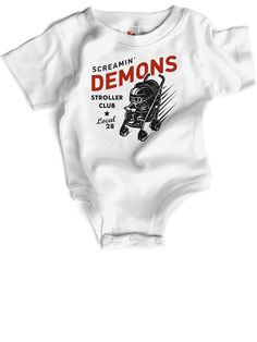 Screamin' Demons Stroller Club onesie