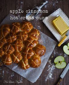 Apple & Cinnamon Hot Cross Buns @ Not Quite Nigella