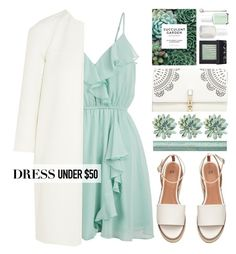 """""""Contest : dress under $50"""" by blueberrylexie ❤ liked on Polyvore featuring New Look, Michael Kors, Chronicle Books, Too Faced Cosmetics, Lipsy, NARS Cosmetics, Essie, Elle and Dressunder50"""