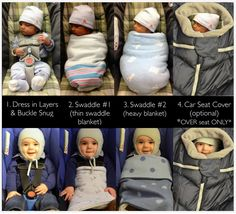 Cold Weather Car Seat Tips via @healthpodbaby  Heavier winter clothing and cold temperatures create a challenge for parents trying to safely install babies in their car seats and keep them warm.