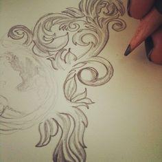 practicing #filigree .. #sketch #moleskine  (Taken with Instagram) #beejaedee