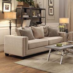 Coaster Lyonesse Sofa with Loose Pillow Back Cushions - Coaster Fine Furniture