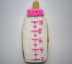 Flour Box Bakery — Pink Baby Bottle Cookie Favor