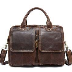 4a8234471e79 Men s Messenger Bag Shoulder Bag Genuine Leather Bag For Men Briefcase Laptop  Bag Crossbody Shoulder Bag For Men