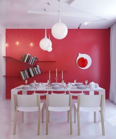 Fresh Red Dining Room Wall Decor