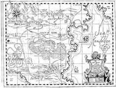 This is the land that our hero Milo visits in The Phantom Tollbooth after building a strange tollbooth that comes in the mail, driving through it in a toy car, and finding himself in a bizarre land of puns, games, and incredible drawings (including this map) by Jules Pfeiffer. (I don't remember the map, but excellent book)