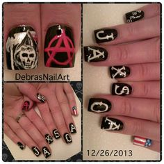 Sons Of Anarchy nail art!