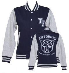 Ladies Transformers Autobots More Than Meets The Eye Varsity Jacket from TruffleShuffle xoxo