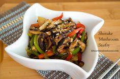 Busot Bokum {Shiitake Mushrooms Stirfry} | Heart Mind & Seoul Healthy Asian Recipes, Vegan Recipes, Vegan Korean Food, Pacific Rim, Mushroom Recipes, Stir Fry, Tofu, Seoul, Hawaiian