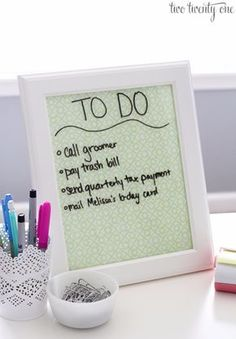 DIY Teen Room Decor Ideas for Girls | Dry Erase Board and Desktop Tray | Cool Bedroom Decor, Wall Art & Signs, Crafts, Bedding, Fun Do It Yourself Projects and Room Ideas for Small Spaces http://diyprojectsforteens.com/diy-teen-bedroom-ideas-girls-rooms