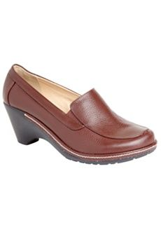 Roamans Plus Size Amy Leather Slip-On by Comfortview (BURGUNDY,7 1/2 WW) $94.99