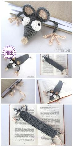 Most current Free Cute crochet bookmarks Thoughts Crochet Mouse Bookmark Amigurumi Free Patterns Marque-pages Au Crochet, Crochet Mignon, Crochet Mouse, Crochet Amigurumi Free Patterns, Crochet Gifts, Cute Crochet, Knitting Patterns, Crochet Bookmark Patterns Free, Crocheting Patterns
