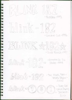And have memorized the evolution of the Blink-182 logo. | 27 Things Only Blink-182 Fans Will Understand
