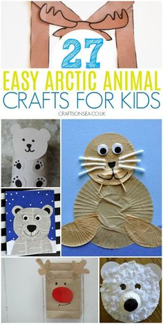 27 Easy and Fun Arctic Animal Crafts for Kids animalcraftsforkids easy arctic a… Winter Activities For Kids, Winter Crafts For Kids, Animal Crafts For Kids, Toddler Crafts, Seal Crafts For Kids, Kids Crafts, Artic Animals, Bear Crafts, Preschool Art