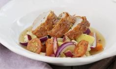 Salamistekt fläskfilé med grönsaker à la barigoule | Linas Matkasse