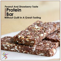 PB&J without the guilt in a great-tasting #ProteinBar with peanut and strawberry taste plus chocolate coating#strawberry #chocolate #Protein