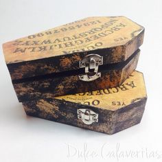 Ouija coffin storage box by Dulcecalaveritas on Etsy https://www.etsy.com/uk/listing/179088370/ouija-coffin-storage-box