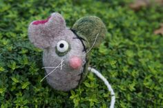 Frankenmouse  Needle Felted Wool Soft Sculpture by GoodNaturedByDani on Etsy