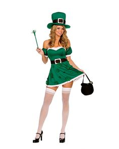 Spank Me I m Irish Costume Adult Spank Me I m Irish is for girls who can t  be satisfied with a simple little kiss. This costume is cute 4c267919d0fa