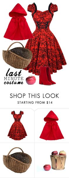 """""""Lil Red Riding Hood"""" by rev2fashion ❤ liked on Polyvore featuring Siaomimi, Maison Margiela and lastminutecostume"""