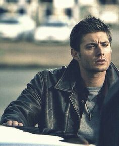 Jensen Ackles looking all tough.
