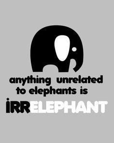 Afdrukbare Irrelephant olifant Print - 8 x 10 door whatthehootdesigns op Etsy https://www.etsy.com/nl/listing/76726414/afdrukbare-irrelephant-olifant-print-8-x