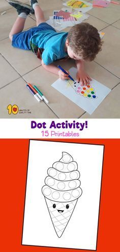 15 dot activity printables for the summer learning - free pr Preschool Lesson Plans, Preschool Crafts, Summer Activities, Reading Activities, Math Fractions, Education Quotes For Teachers, Kindergarten Art, Educational Technology, Quality Time