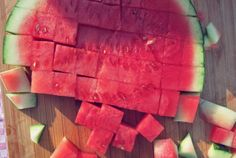 Watermelon, what else in summer? Fits perfectly to feta cheese