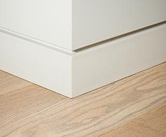 Large simple skirting board, The Moulding Shop SA Baseboard Styles, Baseboard Trim, Floor Skirting, Skirting Boards, Architecture Details, Interior Architecture, Home Room Design, House Design, Modern Baseboards