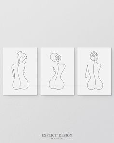 One Line Female Back Form Printable Set of Minimalist Nude Ass, Woman Body Figure Wall Art Gallery, Naked Bottom Print, Butt Illustration Une ligne dos féminin imprimable lot de 3 minimaliste cul Digital Art Gallery, Online Art Gallery, Gallery Gallery, Art Abstrait Ligne, Heart Tatoo, Abstract Line Art, Body Figure, Dark Fantasy Art, Art Mural
