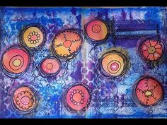 Art journal page - your story Abstract, flower, mixed media, doodels, journaling, quotes, Dylusions paint, gelatos, stamping, texture, perfect pearls, stencil, ombre, Brayer, markers, bright, colourful, beautiful, background, texture