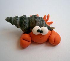 Hermit Crab Polymer Clay Creation by bdbworld on Etsy No56. $6.00, via Etsy.