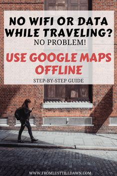 Learn how to use Google Maps offline without data or wifi. Save money on data and time getting lost! Click through to find out how. -- PIN FOR LATER -- #budgettravel #googlemaps #traveltip #besttraveltips