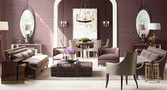 Thomas Pheasant living room in Amethyst tones