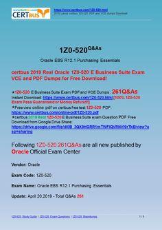 1z0 1007 dumps pdf