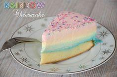 Recette de rainbow cheesecake un cheesecake arc en ciel