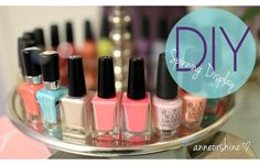 SO many colors to choose from! Find your favorite colors easier with by organizing your cosmetics on a lazy Susan.