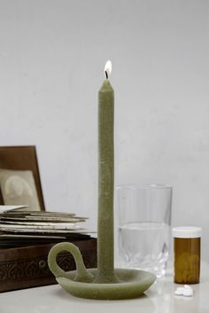 A candle needs the candlestick, which requires a candle in return. The Tallow unites these two objects through melding them into an inseparable union. Bathe in its light for eight long hours or accessorize it for all eternity. The playful design is entirely in wax and available in a wide range of colours. Snuff before bedtime.
