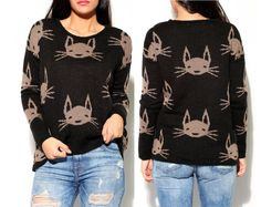 black sweater trendy womens clothing tops by knitfashionable