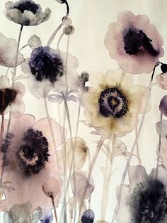 Lourdes Sanchez, anemones #3 2014, watercolor, detail//
