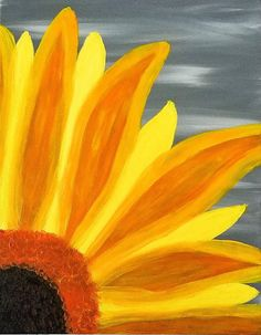 sunflower canvas and cocktails but a more orange yellow