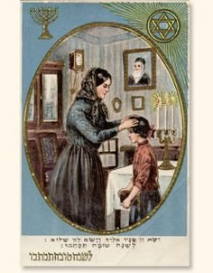 Mother and daughter postcard
