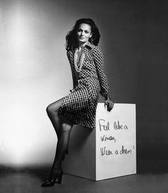 Diane Von Furstenberg sur le cube: Feel like a woman, Wear a dress! http://www.vogue.fr/thevoguelist/diane-von-fuerstenberg-1/228#
